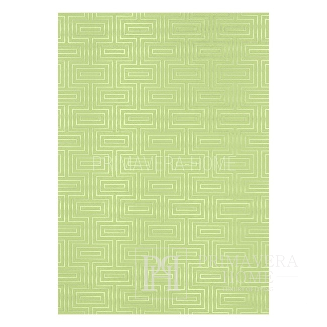 GRAPHIC RESOURCE Geometric wallpaper in New York style American style American white blue GREEN GRANATE