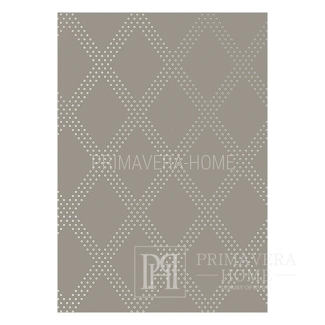 GEOMETRIC RESOURCE Geometric wallpaper in New York style American style American WHITE Brown