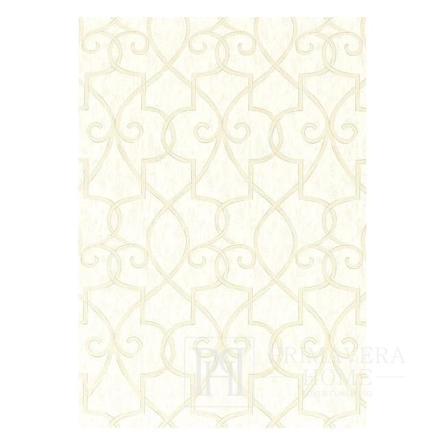 GEOMETRIC RESOURCE Tapeta geometryczna w stylu nowojorskim angielskim amerykańskim BIAŁA CZARNA SZARA ŻÓŁTA  SREBRNA RÓŻOWA