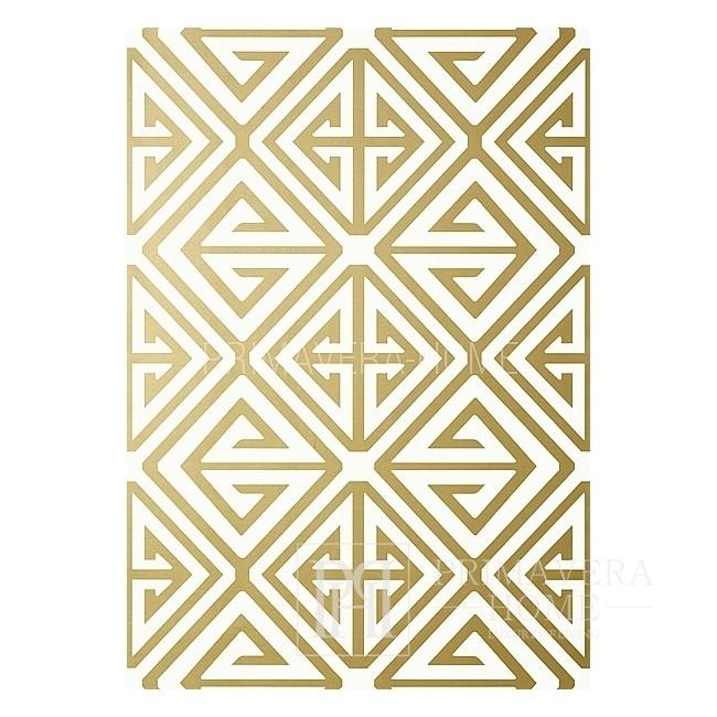 BRIDGE HAMPTON New Yorker Stil Geometrische Tapete Amerikanischer Stil Weiß Grau Blau GRÜN SILBER Schwarz ROT GOLDEN