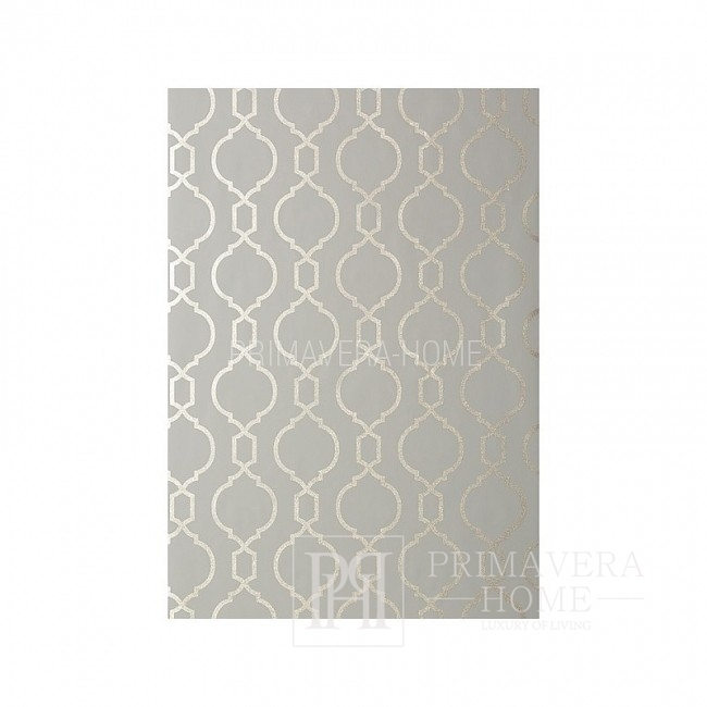 GEOMETRIC RESOURCE New Yorker Stil Geometrische Tapete Amerikanischer Stil WEISS GRAU SILBER