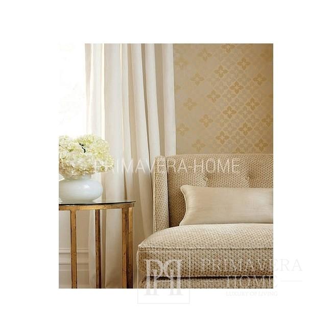 GEOMETRIC RESOURCE Geometric wallpaper in New York style American style American style WHITE GREYBLE BLUE SILVERY GOLDEN