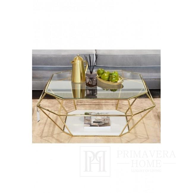 Dywan glamour nowoczesny i stylowy do salonu w kolorze złotym DOLORES