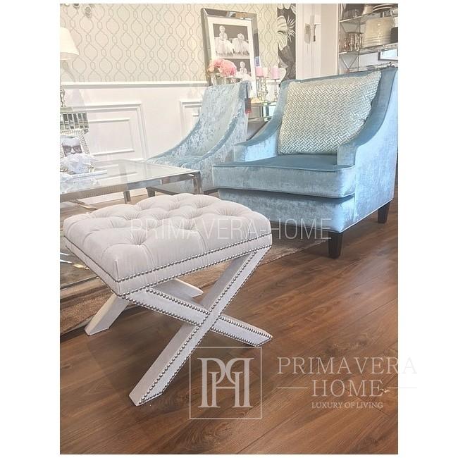 Fotel tapicerowany BRANDON styl modern classic nowoczesny
