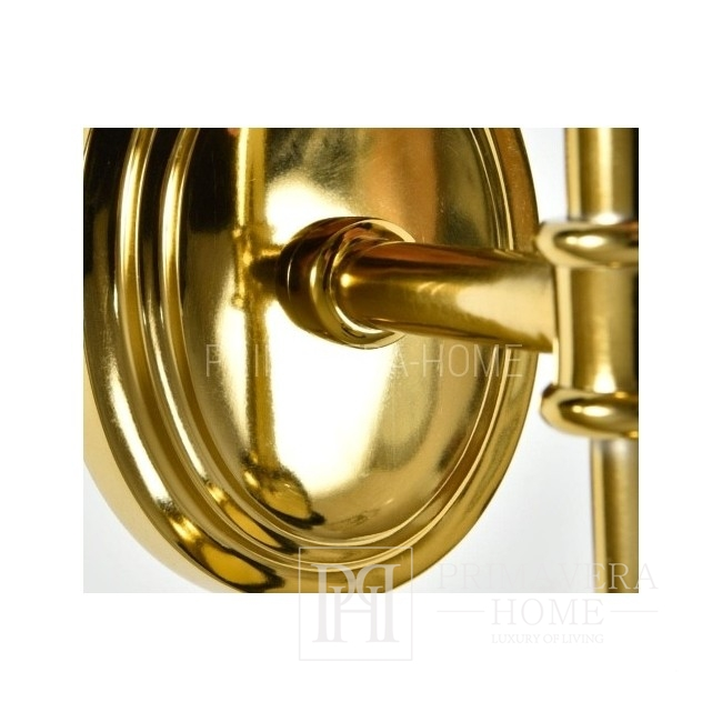 Kinkiet złoty lampa ścienna glamour nowojorska Ron Gold