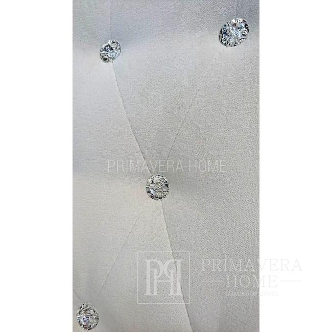 Krzesło tapicerowane TIFFANY guzikami krysztalami swarowskiego 54x46x97