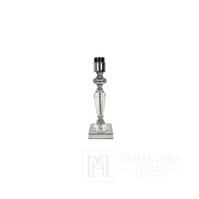 Crystal lamp silver S white TRINITY