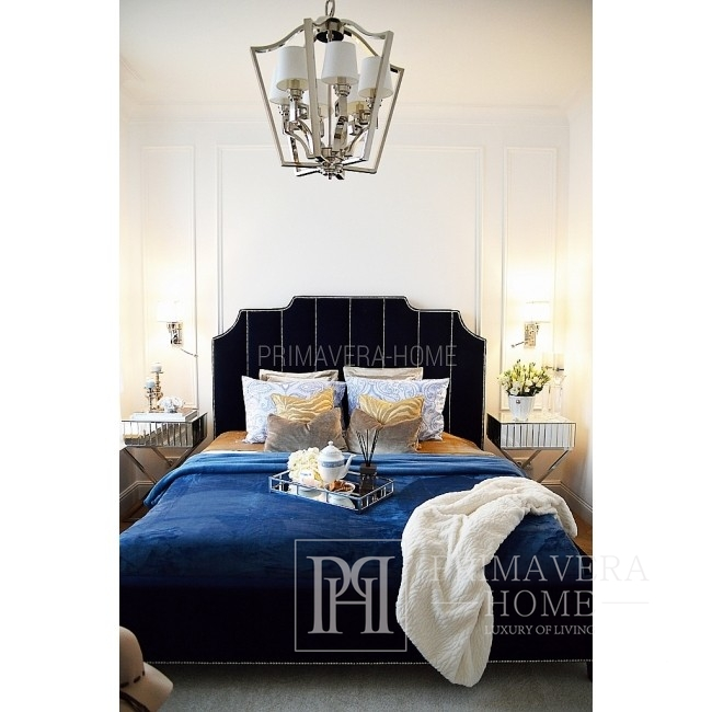 Łóżko nowojorskie glamour tapicerowane nowoczesne APOLLO