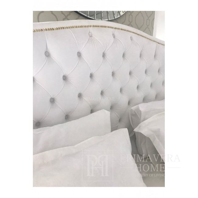 Glamour upholstered bed quilted VALENTINO