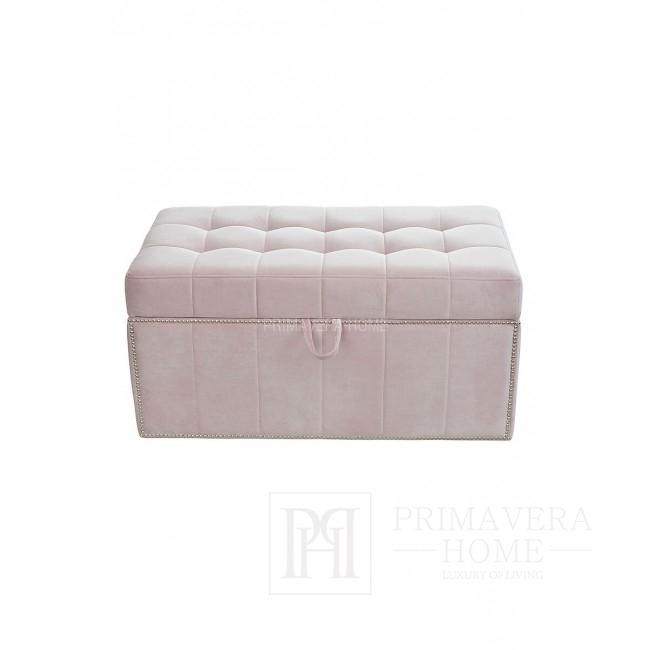 Pufa kufer MANON tapicerowana styl modern classic nowoczesny skandynawski