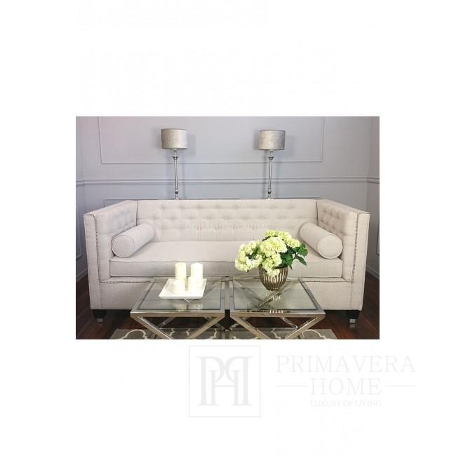 New York Sofa Grau Weiß Glamour MORIS