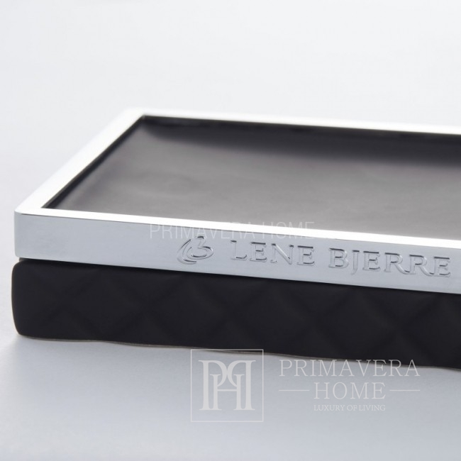 Mydelniczka ceramiczna czarna Portia soap dish Lene Bjerre
