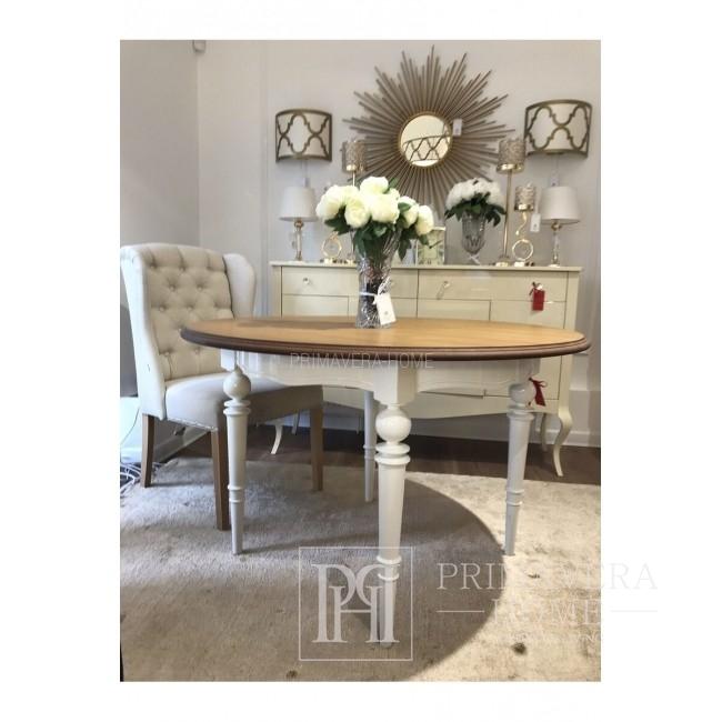 Stół glamour rozkladany drewniany dębowy blat do jadalni Allen
