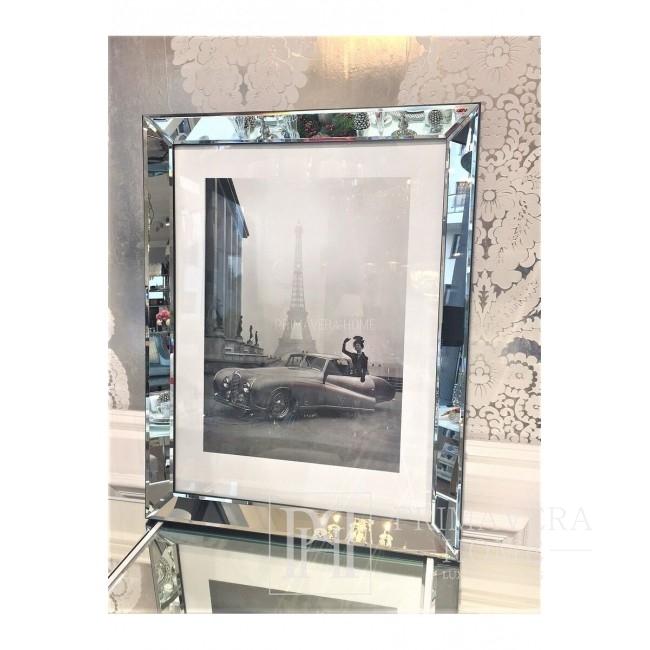 Bild in einem Spiegelrahmen Paris (Auto) Geschenk für sie