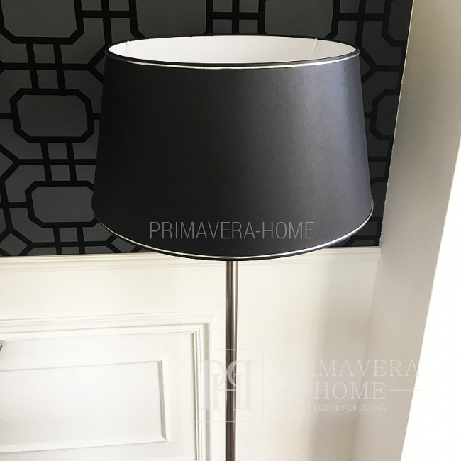 Black or white glamour lampshade MIRLA