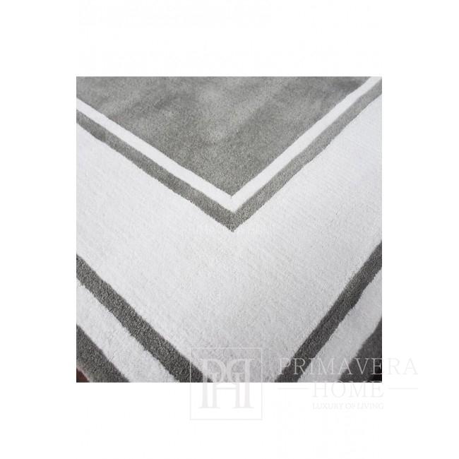 Primavera Teppich Logo Grau