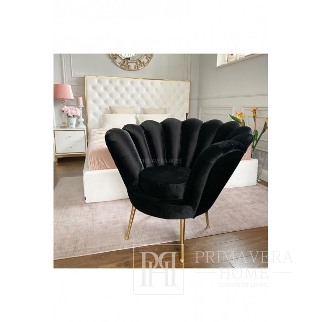 New York glamour chair for hallway bedroom SHELL GOLD
