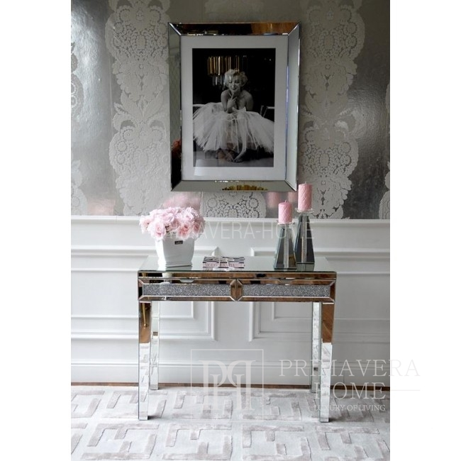 Mirror console glamour New York stainless steel PAOLA M