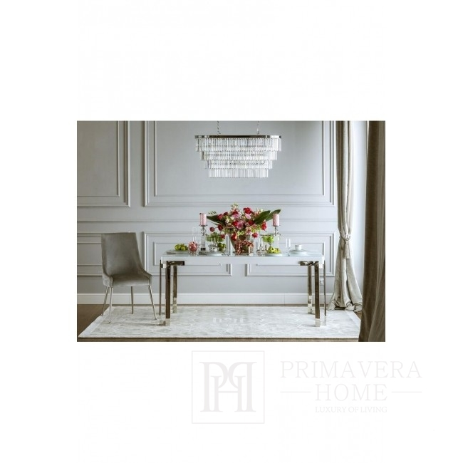 Glamour-Stuhl, MODERN, grau 97x50x50