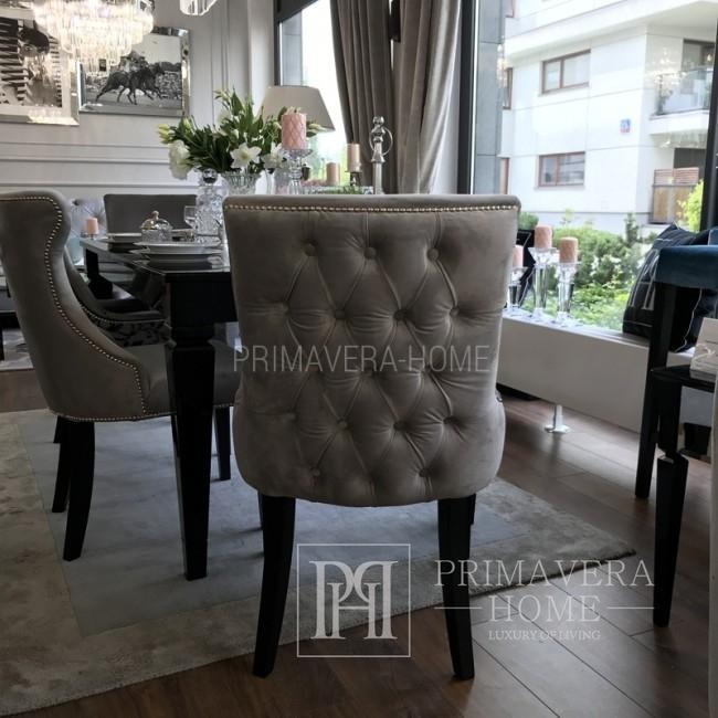Glamour-Stuhl mit gesteppter Rückenlehne, auf Wunsch gepolstert TIFFANY