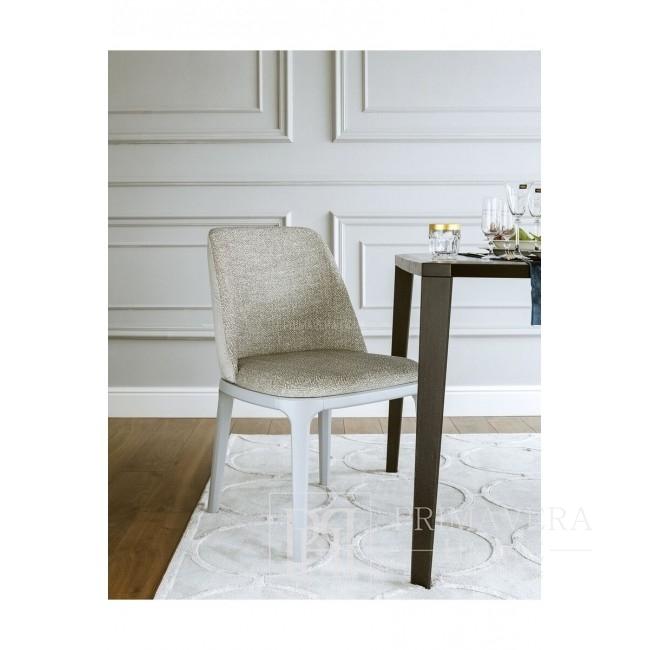 Krzesło glamour tapicerowane nowoczesne drewniane NAPOLI