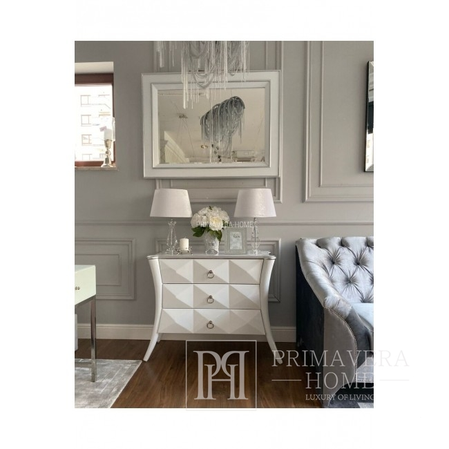 New Yorker Stil Glamouröser Silber PRINCESSA dekorativer Spiegel