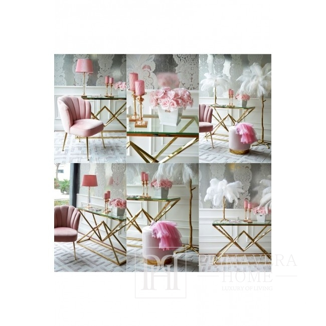 Gepolstertes Sitzkissen Stil Glamour New York modern PINK GOLD