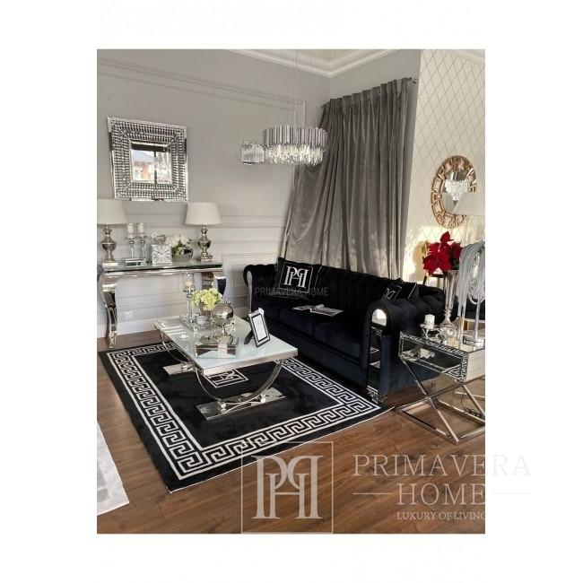 Couchtisch modern Silber Glamour style weiß MARCELLO