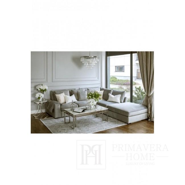 Beistelltisch im Glamour-Stil, Nachttisch ALICE SILBER