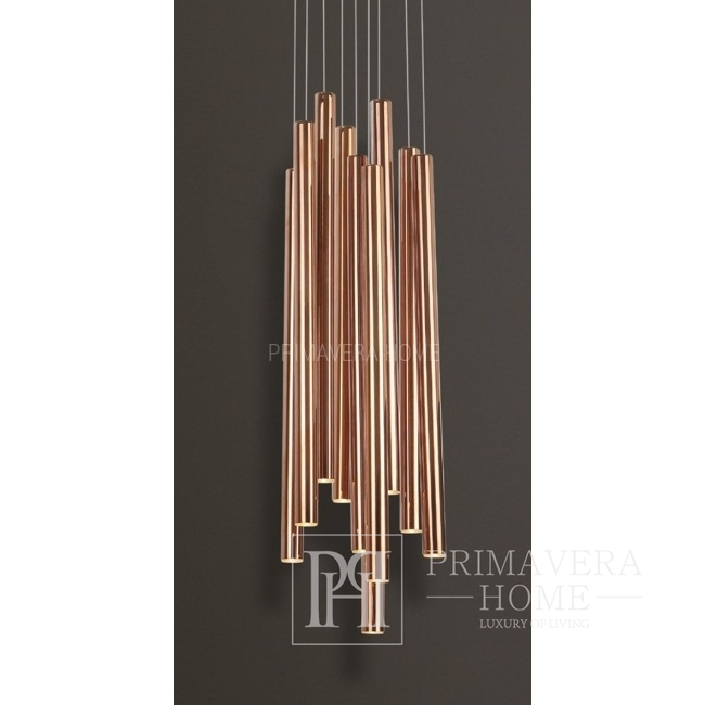 Lampa wisząca sufitowa średnia miedź Ponsacco