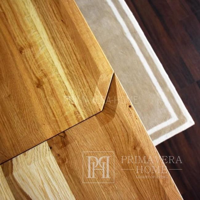 Stół nowoczesny z drewna dębowego Concord czarny elegancki ciemny