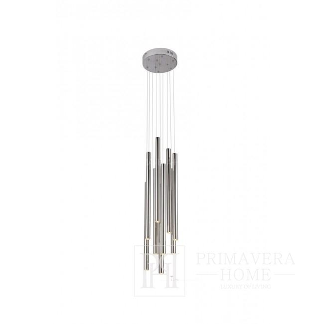 Lampa wisząca chromowany nowoczesny w stylu glamour średnia srebrny Ponsacco