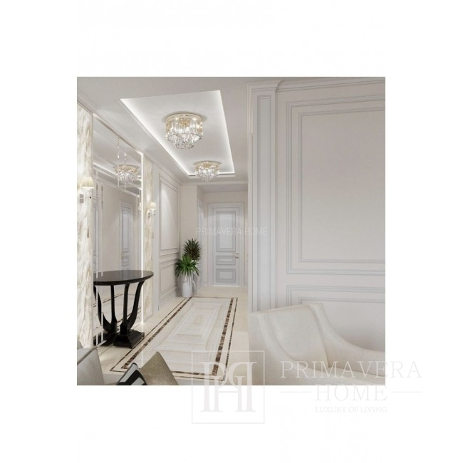 Kryształowy plafon srebrny okrągły GLAMOUR 50 cm SILVER