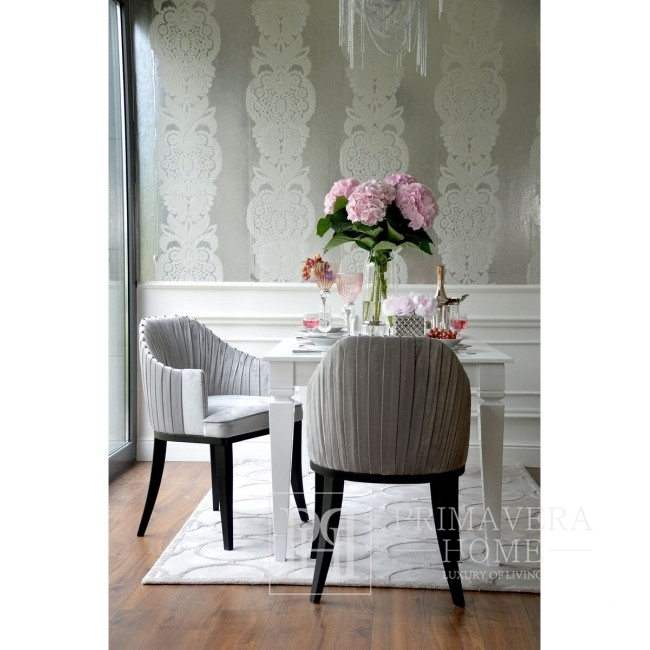 Upholstered chair, pleated in CHIC glamour style