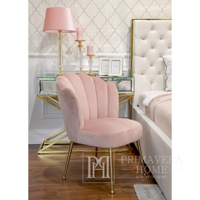 Glamour-Polsterbett gesteppt modern New Yorker Stil SPECTRE GOLD