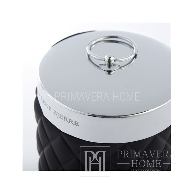 Watte-Behälter schwarz Portia-Glas schwarz Lene Bjerre
