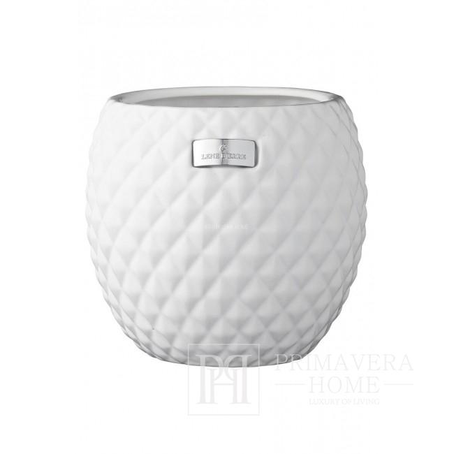 Ceramic pot Rosabelle Flower Lene Bjerre white