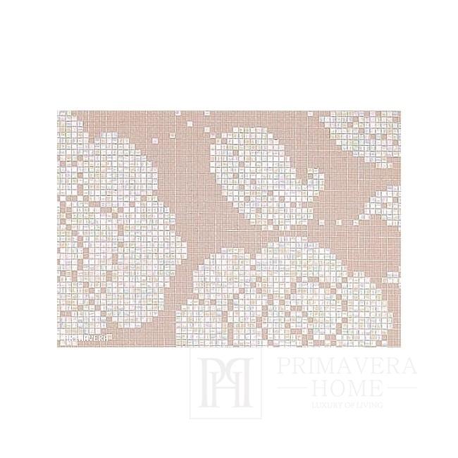 Glasmosaikblumen Winterblumen Rosa Pesca weiß, rosa