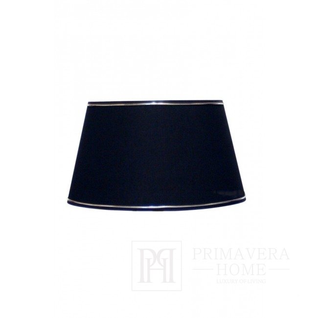 Black lampshade with silver trimming 35 cm
