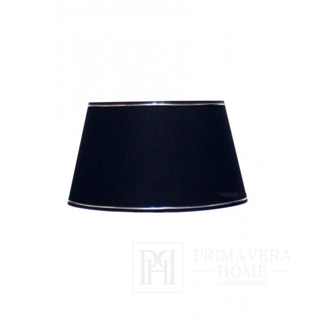 Abażur czarny ze srebrną lamówką 35 cm