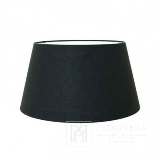 LUIZA Trommel-Lampenschirm schwarz