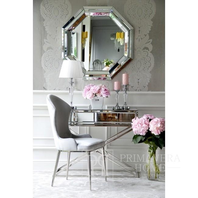 Świecznik kryształowy na srebrnym postumencie FLAVIO XS