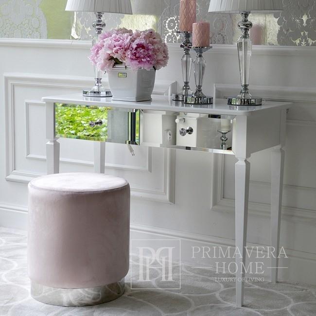 Glamour Spiegelkonsole New York Schminktisch mit Diamond Schubladen