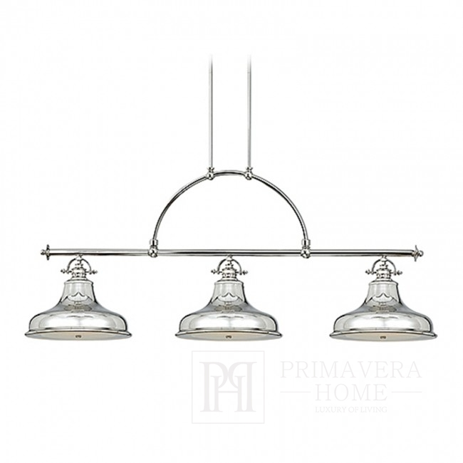 MARY L - Hanging lamp silver - chrome nickel