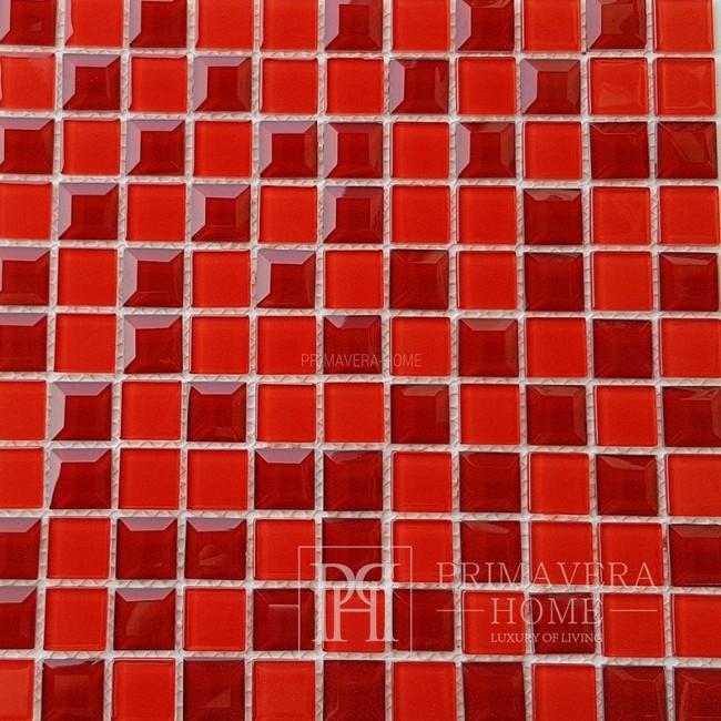 Diamant-Glasmosaik Rot Kristina