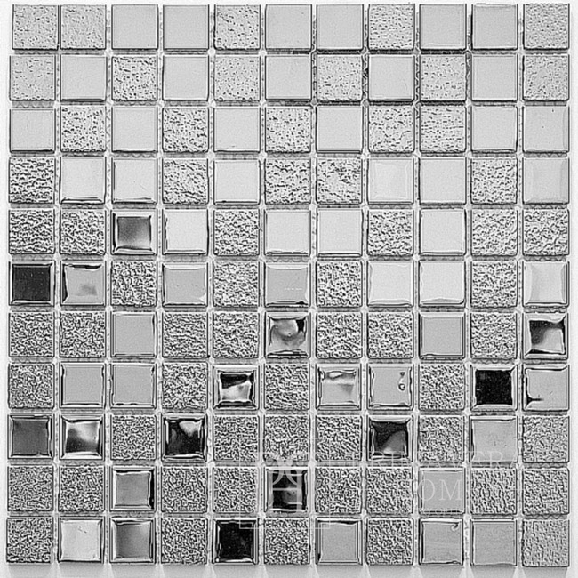 Glass mosaic Silver NEL super shine