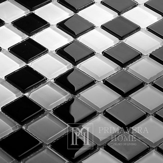 Weiß Diana schwarzes Mosaik hochglänzend