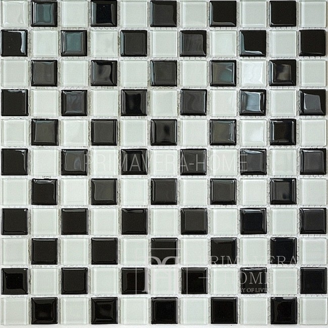 Glasmosaik Schwarz und Weiß Aleksandra SZACHOWNICA