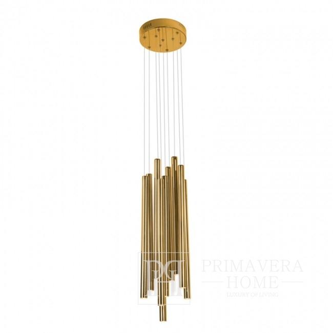Lampa złota wisząca sufitowa średnia Ponsacco