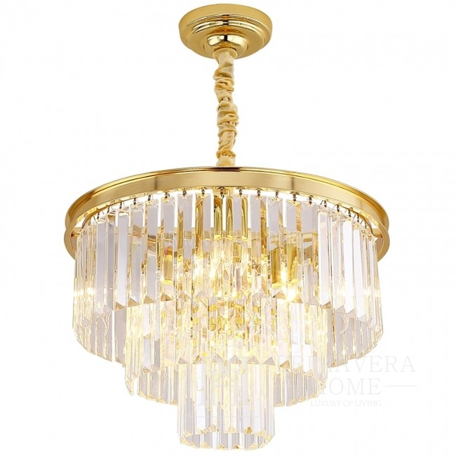 New York glamour style gold crystal chandelier GLAMOUR S GOLD 50 cm